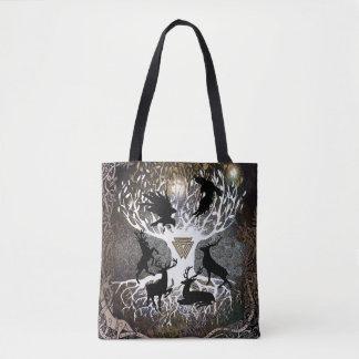 Bolsa Tote Corvos da sacola de Odin