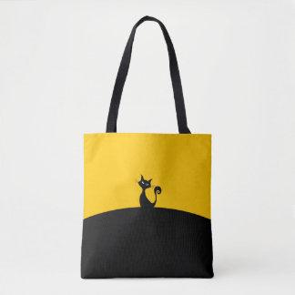 Bolsa Tote Costume do gato preto toda sobre - imprima a