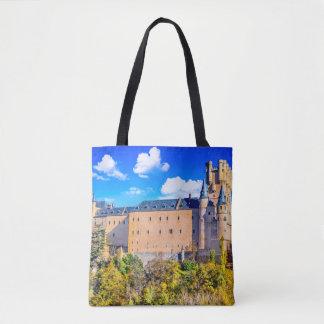 Bolsa Tote Costume toda sobre - imprima o castelo de Segovia