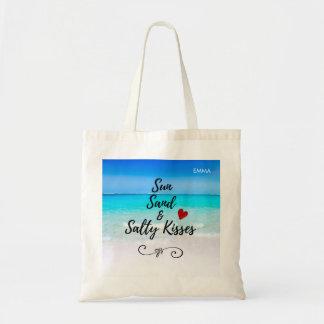 Bolsa Tote Costume tropical da areia de Sun e da praia dos
