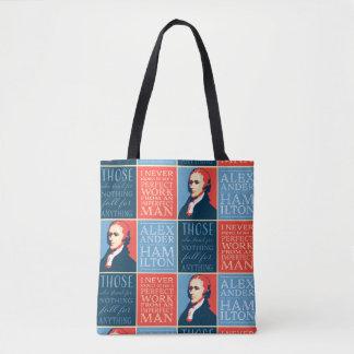 Bolsa Tote Cotações de Alexander Hamilton