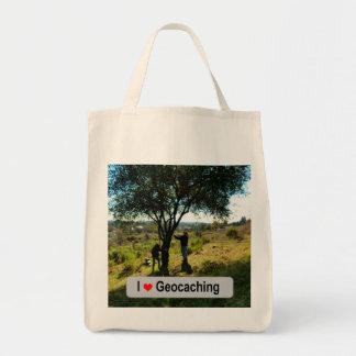 Bolsa Tote Couro cru da árvore: Geocaching