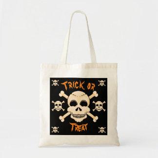 Bolsa Tote Crânio & sacola do Dia das Bruxas dos Crossbones