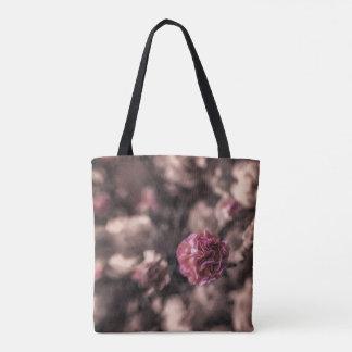 Bolsa Tote Cravos da sacola da doçura mini no rosa antigo