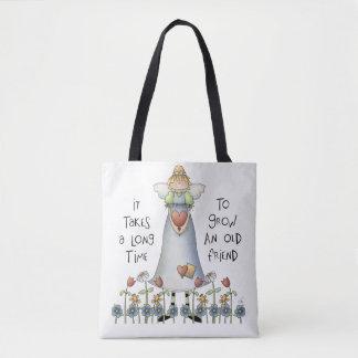 Bolsa Tote Cresça uma sacola do amigo
