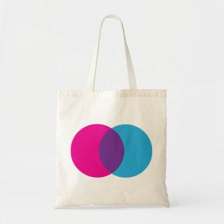 Bolsa Tote Criar seu próprio diagrama de Venn - roxo azul