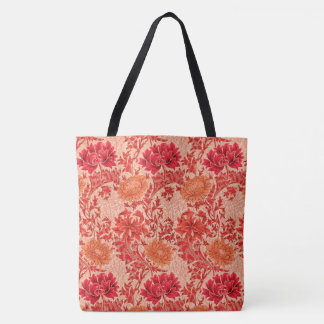 Bolsa Tote Crisântemos de William Morris, laranja coral