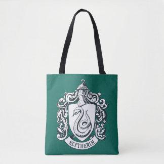 Bolsa Tote Crista de Harry Potter | Slytherin - preto e