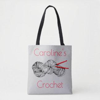 Bolsa Tote Crochet e fio, artesanatos, com seu nome