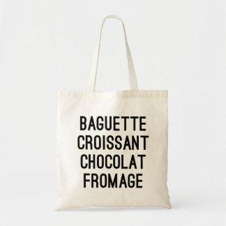 Bolsa Tote Croissant Chocolat Fromage do Baguette
