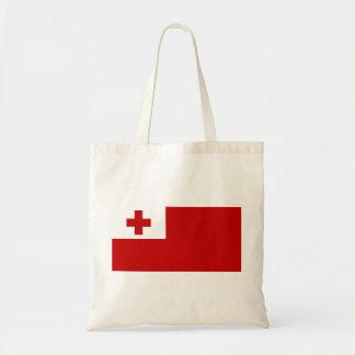 Bolsa Tote Cruz vermelha da bandeira da ilha de Tonga