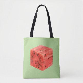 Bolsa Tote Cubo vermelho doce fresco original da comida da