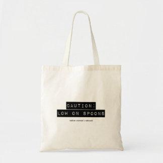 Bolsa Tote Cuidado: Ponto baixo no saco das colheres