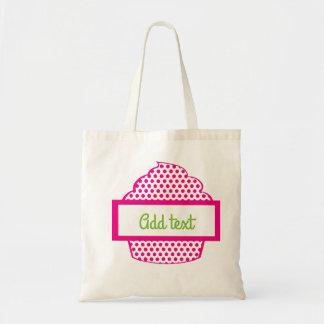 Bolsa Tote Cupcake das bolinhas no rosa