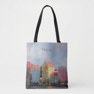 Bolsa Tote Curaçau colorido personalizado