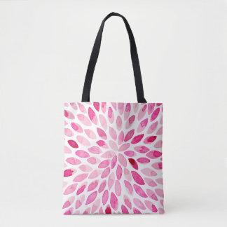 Bolsa Tote Cursos da escova da aguarela - paleta cor-de-rosa