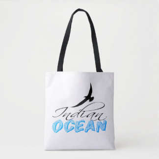 Bolsa Tote Customizável branco do Oceano Índico