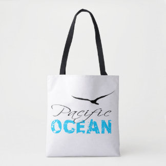 Bolsa Tote Customizável branco do Oceano Pacífico