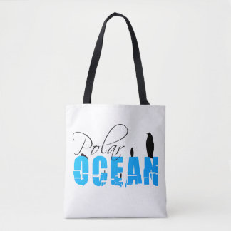 Bolsa Tote Customizável branco do oceano polar