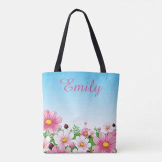 Bolsa Tote Da margarida floral da flor do verão do primavera