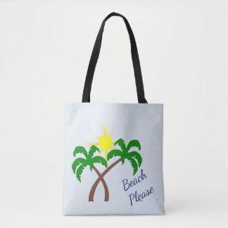 Bolsa Tote Da palmeira da praia sacola bonito por favor