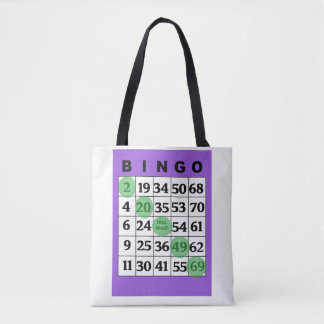 "Bolsa Tote Da ""saco personalizado do BINGO boa sorte"""