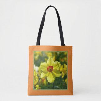 Bolsa Tote Daffodils amarelos alaranjado 02.1.2.g