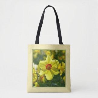 Bolsa Tote Daffodils amarelos alaranjado 02.1g