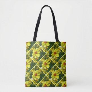 Bolsa Tote Daffodils amarelos alaranjado 02.2.3.2 .y