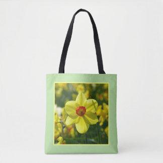 Bolsa Tote Daffodils amarelos alaranjado 02.2y