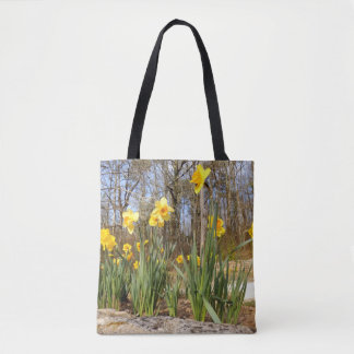 Bolsa Tote Daffodils na páscoa por todo o lado na sacola do