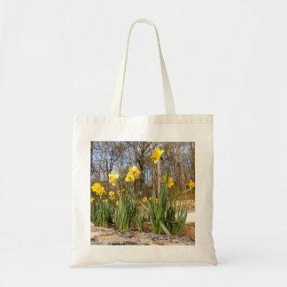 Bolsa Tote Daffodils na sacola do orçamento da páscoa