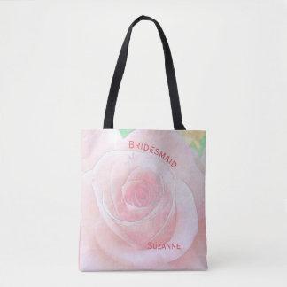 Bolsa Tote Dama de honra cor-de-rosa e cor-de-rosa da