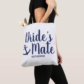 Bolsa Tote Dama de honra da âncora do companheiro da noiva