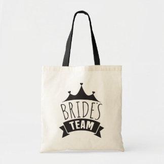 Bolsa Tote Dama de honra da Tipografia do casamento do preto
