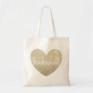 Bolsa Tote Dama de honra fabuloso do coração da sacola   -