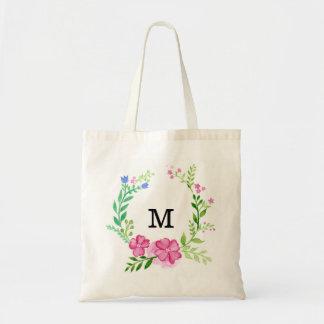Bolsa Tote Dama de honra floral personalizada
