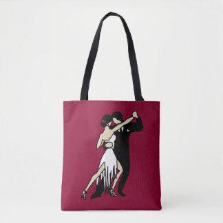Bolsa Tote Dançarinos românticos do tango