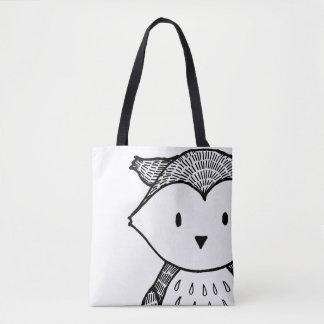 Bolsa Tote Das mulheres pretas da coruja da floresta o saco à