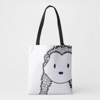 Bolsa Tote Das mulheres pretas do ouriço da floresta o saco à