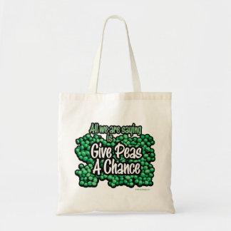 Bolsa Tote Dê a ervilhas uma possibilidade