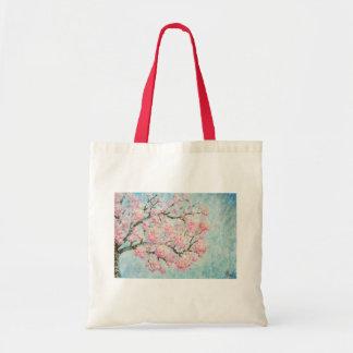 Bolsa Tote de Arte com estampa de Ipe Rosa
