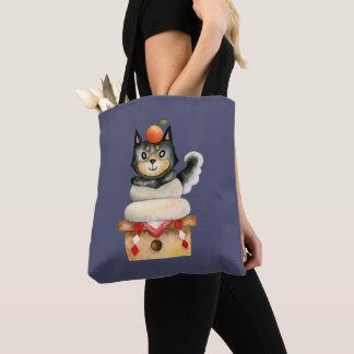 """Bolsa Tote De """"ilustração da aguarela do cão Mochi Shiba"""""""