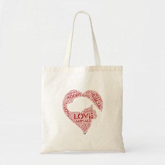 Bolsa Tote Dê… o amor… adotam