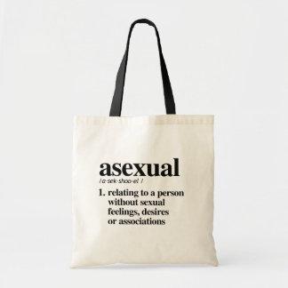 Bolsa Tote Definição assexuada - termos definidos de LGBTQ -