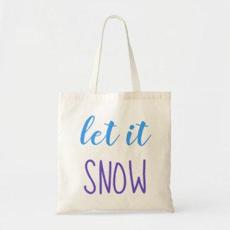 Bolsa Tote Deixais lhe para nevar sacola azul & roxa da