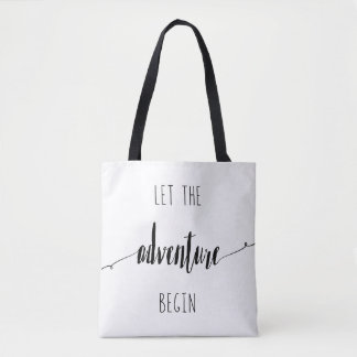 Bolsa Tote Deixe a aventura começar citações