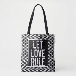 Bolsa Tote Deixe a regra do amor