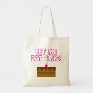 Bolsa Tote Deixe-me comer o bolo