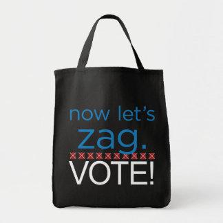 Bolsa Tote Deixe-nos agora Zag